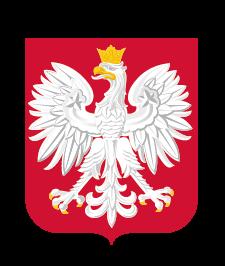Godło Rzeczypospolitej Polskiej - biały orzeł w koronie