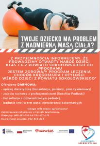 Plakat dla programu Jestem zdrowy - moduł otyłości