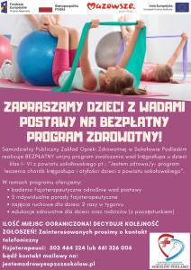 Plakat dla programu Jestem zdrowy - moduł chorób kręgosłupa